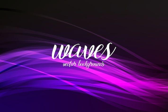Cover Image For Абстрактный поток Фоны нов волн