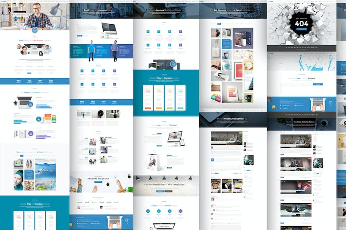 Thumbnail for Business Web Template - PSD