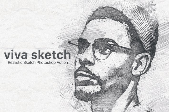 Viva Sketch Photoshop Действие