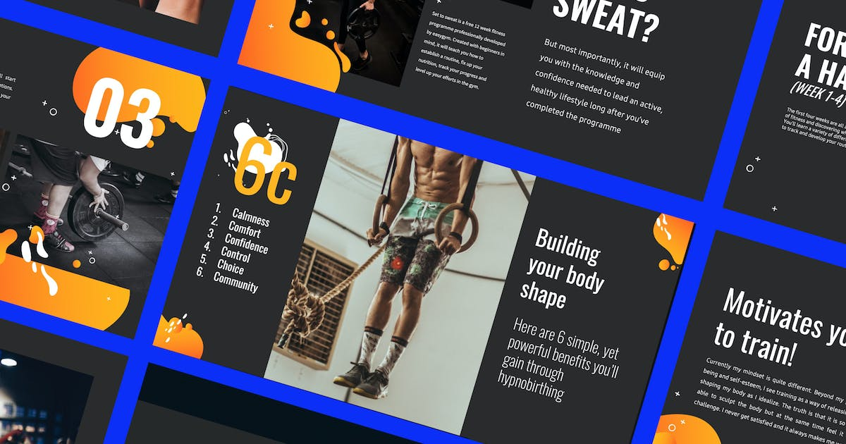 Download WORKOUT - Presentation Powerpoint Business Company by dirtylinestudio