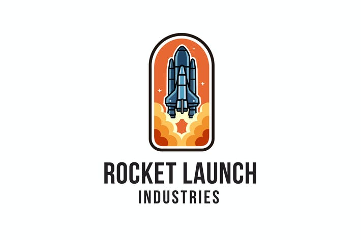 Thumbnail for Rocket Launch Industries Logo Template