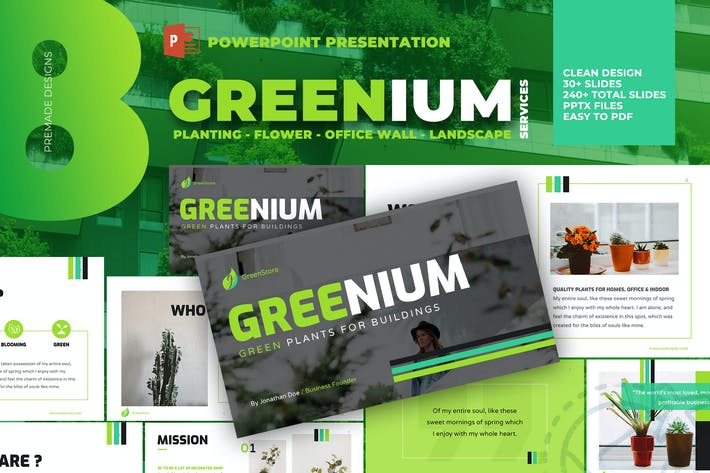 Thumbnail for Greenium - Planting Services Powerpoint