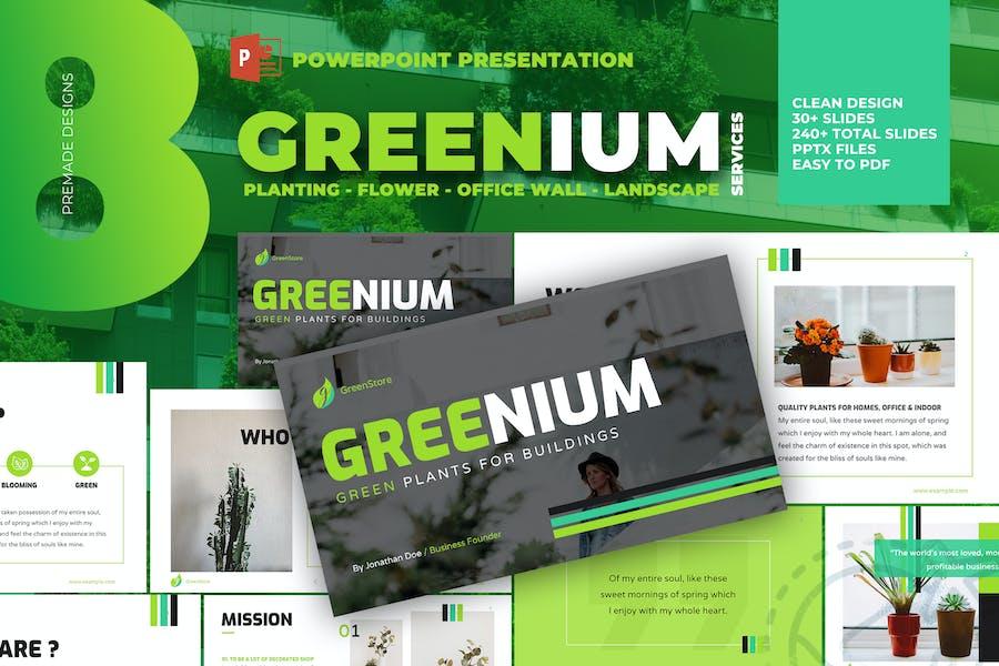 Greenium - Planting Services Powerpoint