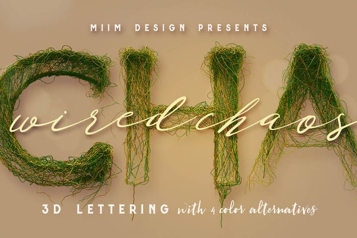 Wired Chaos - 3D Lettering