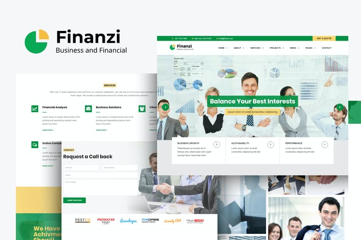 Thumbnail for Finanzi - Finance and Business HTML Template