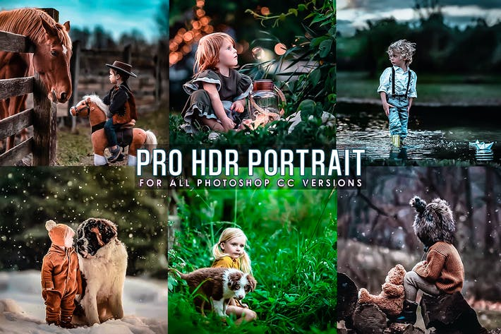 Thumbnail for HRD Portrait Photoshop Actions
