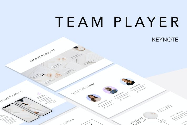 Thumbnail for Team Player Keynote Template