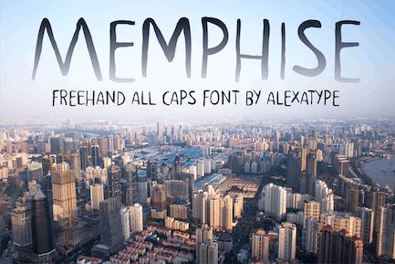 MEMPHISE - Freehand Font