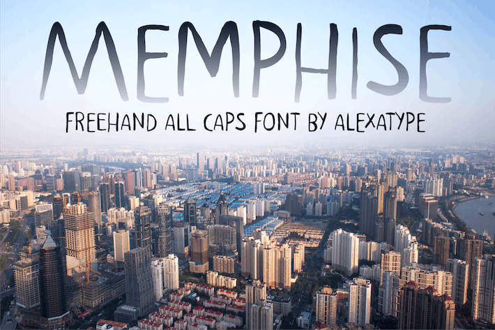Thumbnail for MEMPHISE - Freehand Font