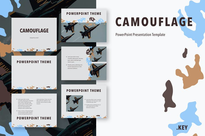 Thumbnail for Camouflage PowerPoint Template