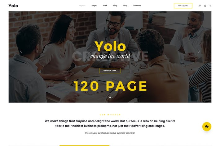 Thumbnail for Yolo | Responsive Multi-Purpose HTML Template