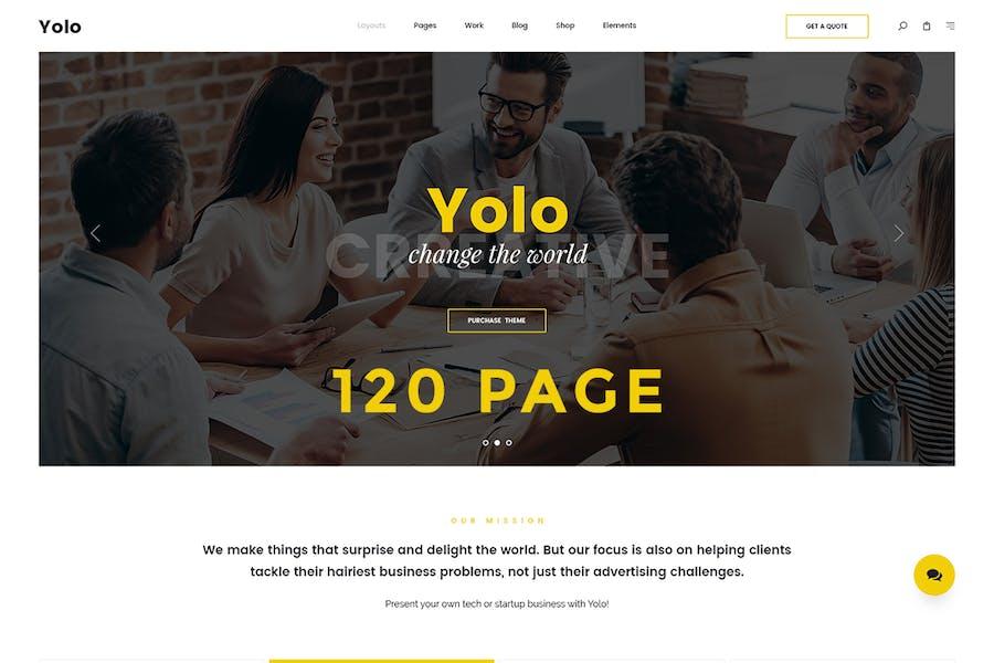 Yolo | Responsive Multi-Purpose HTML Template