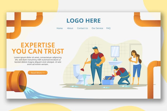 Thumbnail for Sink Repairman - Landing Page