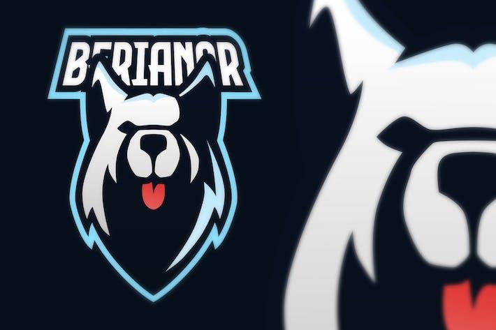 Thumbnail for Siberian Husky Sport Esport Logo
