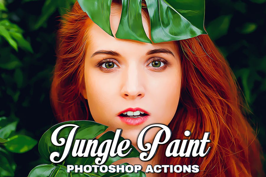Джунгли Живопись Photoshop