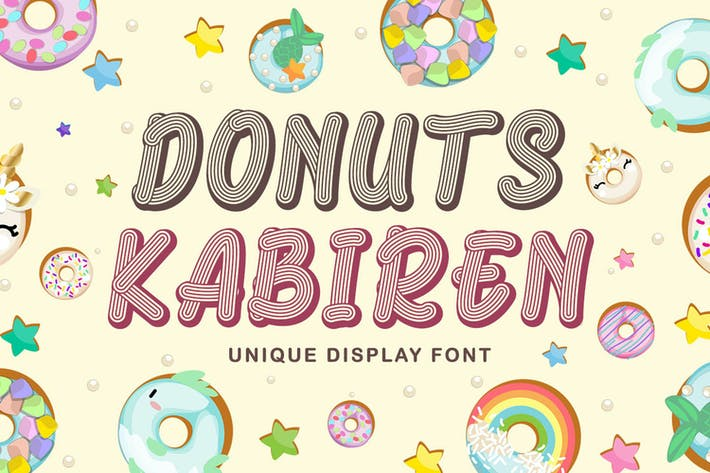 Thumbnail for Donuts Kabiren - Playful Display Font
