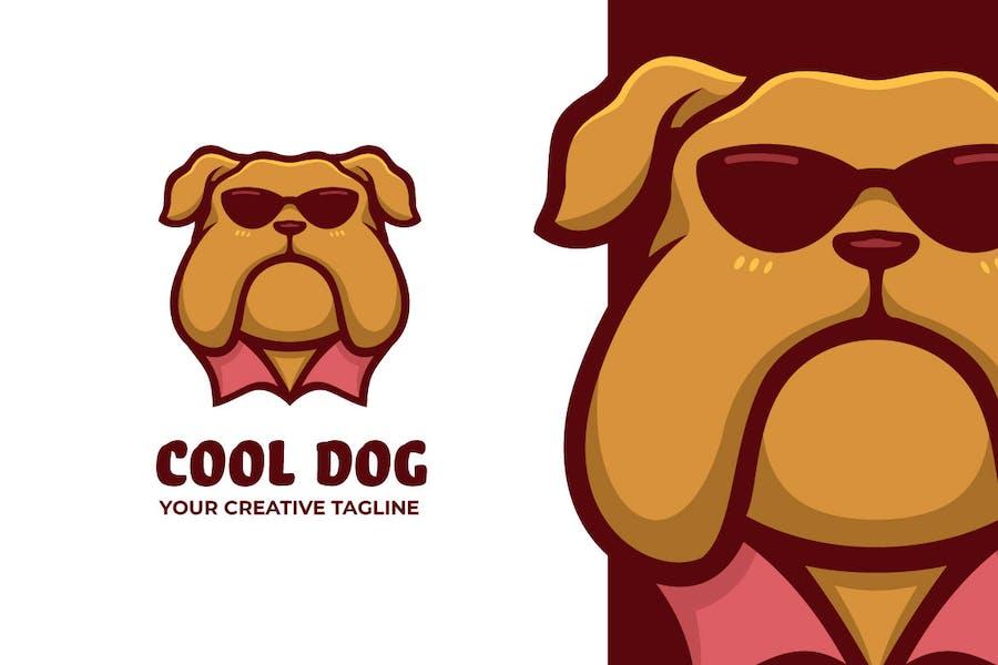 Dog Wear Glasses Mascot Character Logo