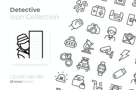 Detective Outline Icon