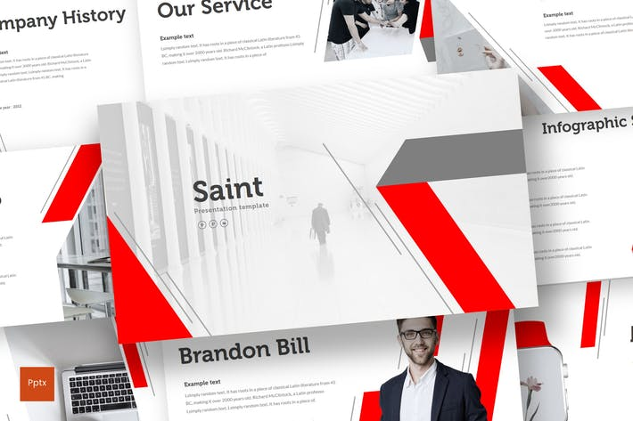 Thumbnail for Saint - Powerpoint Template