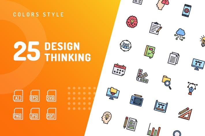 Design Thinking Line Icons