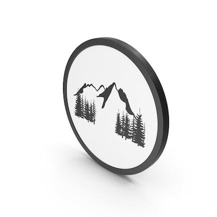 Icon Mountains Scene