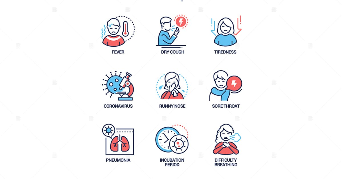 Download Coronavirus disease - line design style icons set by BoykoPictures