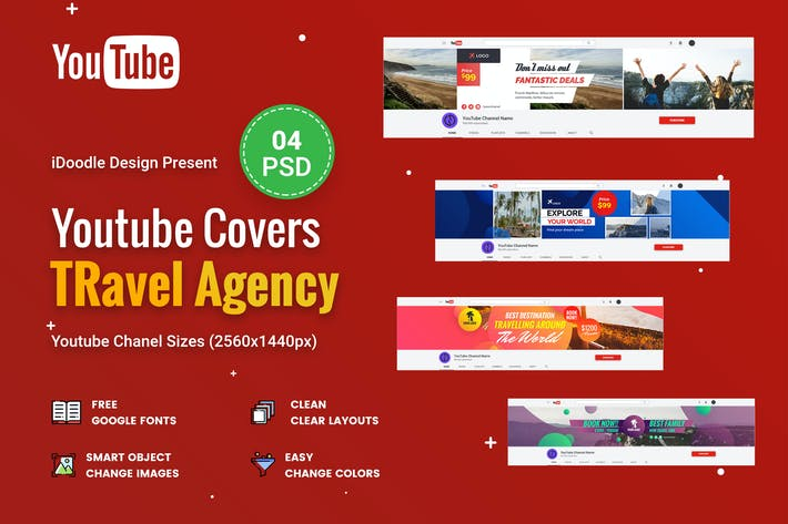 Thumbnail for Travel Agency, Vacation Youtube Chanel