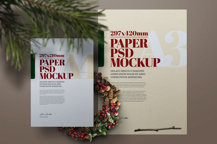 Thumbnail for Christmas A3 A4 Flyer Poster Scene Mockup