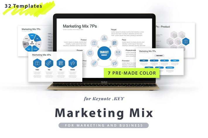 Thumbnail for Marketing Mix Keynote Template