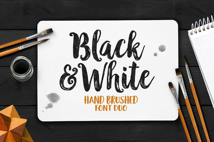 Thumbnail for Black And White Typeface