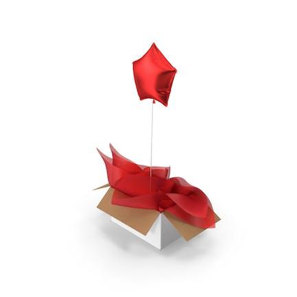 Red Star Ballon Überraschungsbox