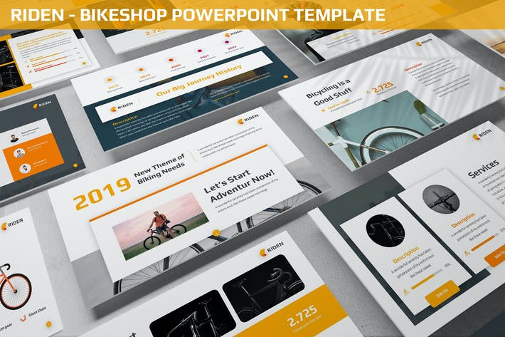 Thumbnail for Riden - Bikeshop Powerpoint Template