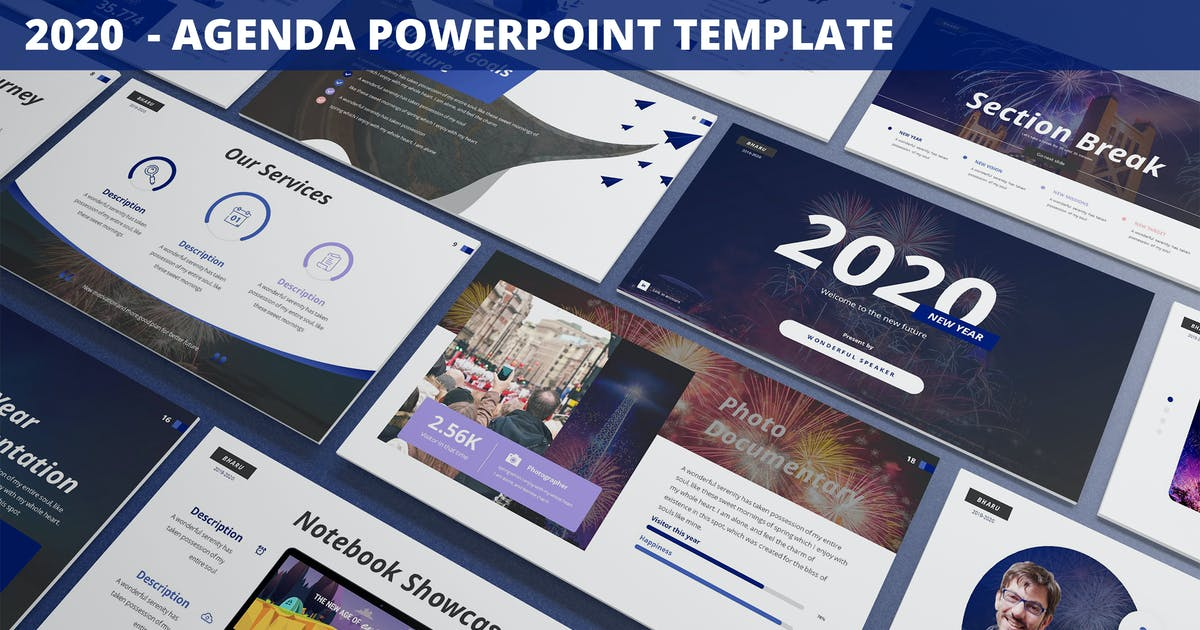Download 2020 - Agenda Powerpoint Template by SlideFactory
