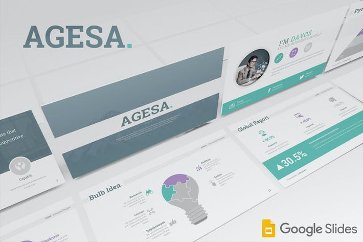 Thumbnail for Agesa Google Slides Template