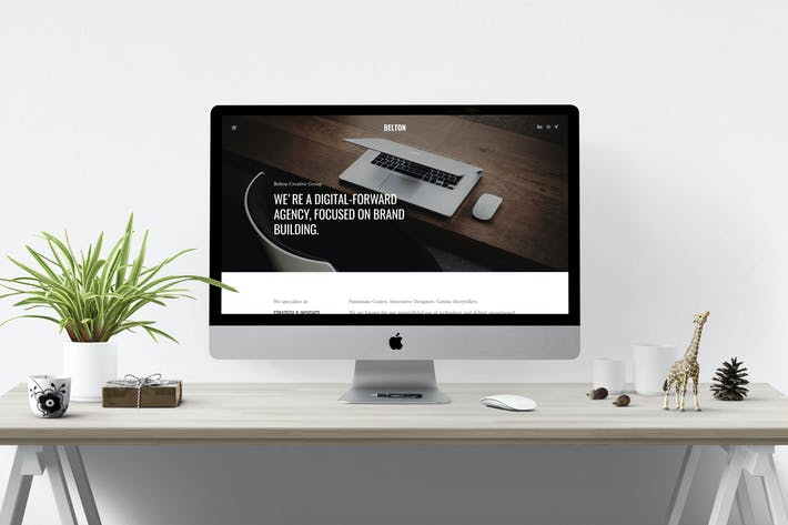 Thumbnail for Belton – Minimal HTML5 Black & White Multipurpose