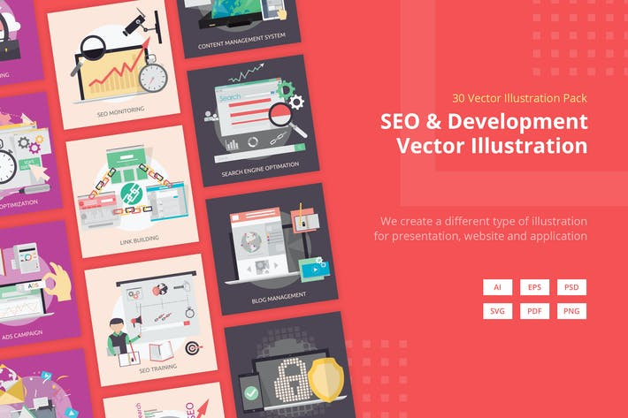 Thumbnail for SEO and Development Vector Illustration