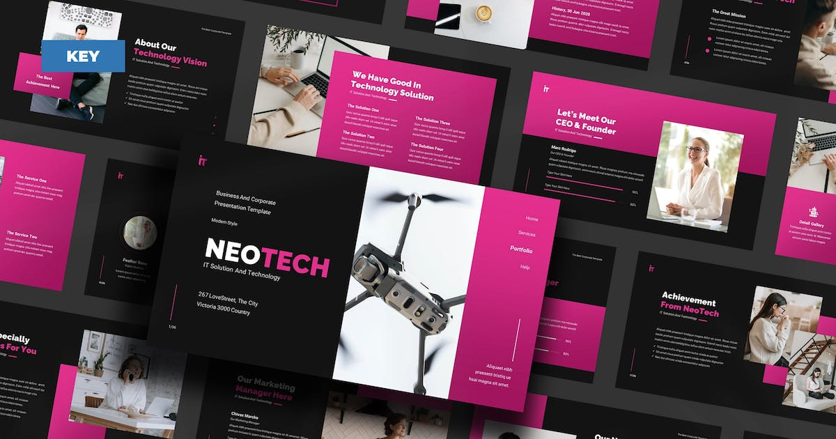 Download NeoTech IT Solution And Technology - Keynote UP by Rometheme