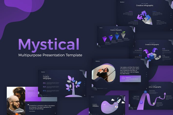 Thumbnail for Mystical Multipurpose Presentation Template