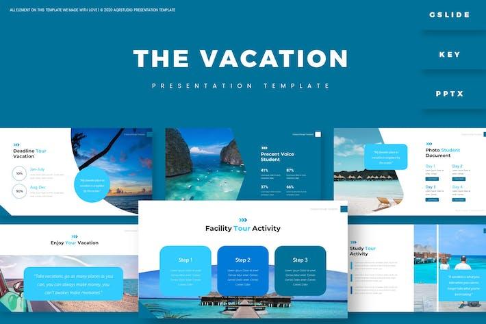 Отпуск - Шаблон презентации
