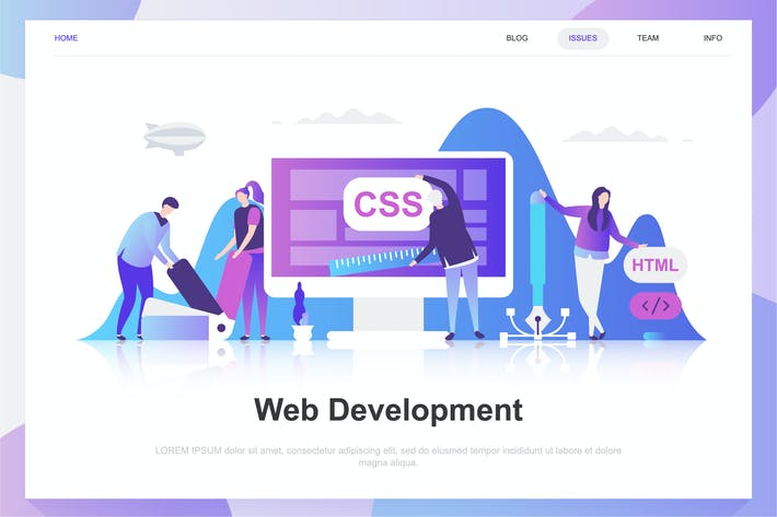 Thumbnail for Web Development Flat Concept