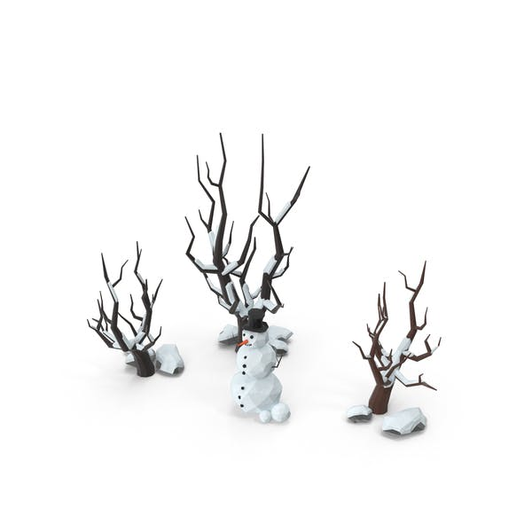 Thumbnail for Low Poly Snow Scene Snowman