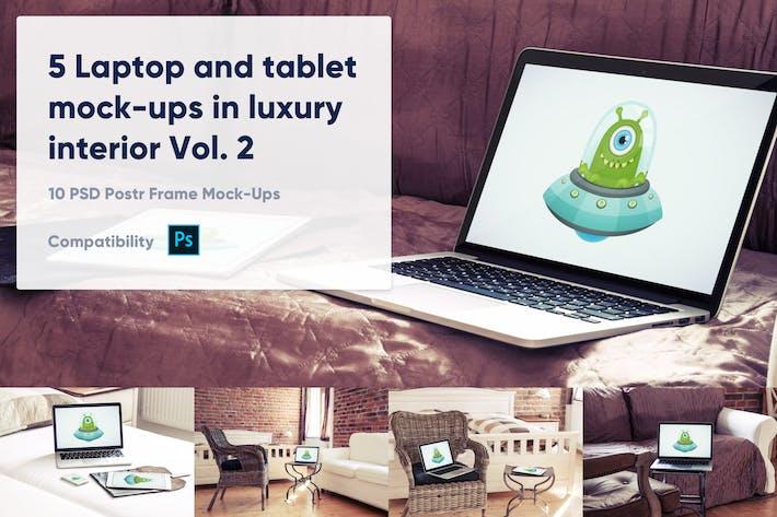 Thumbnail for 5 макеты для ноутбуков и планшетов в отеле Vol. 2