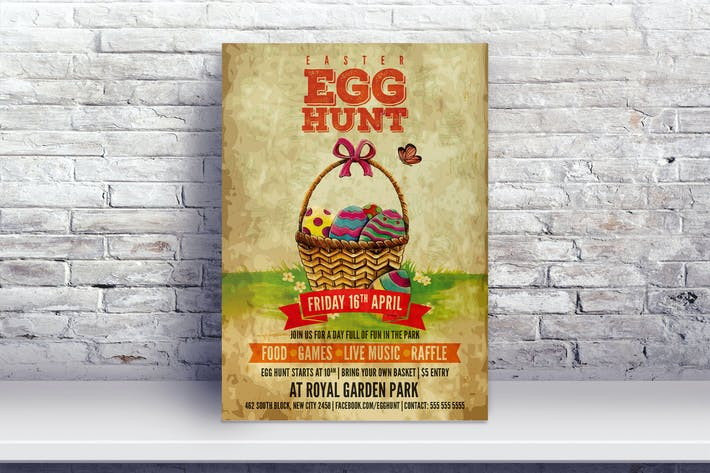 Thumbnail for Vintage Easter Egg Hunt Flyer