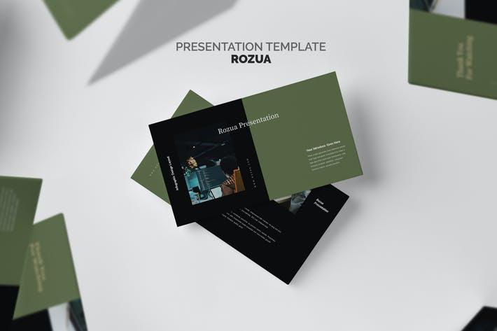 Cover Image For Rozua : Vector Infographic Business Keynote