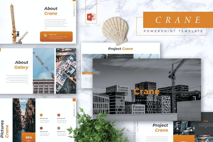 Thumbnail for CRANE - Construction Powerpoint Template
