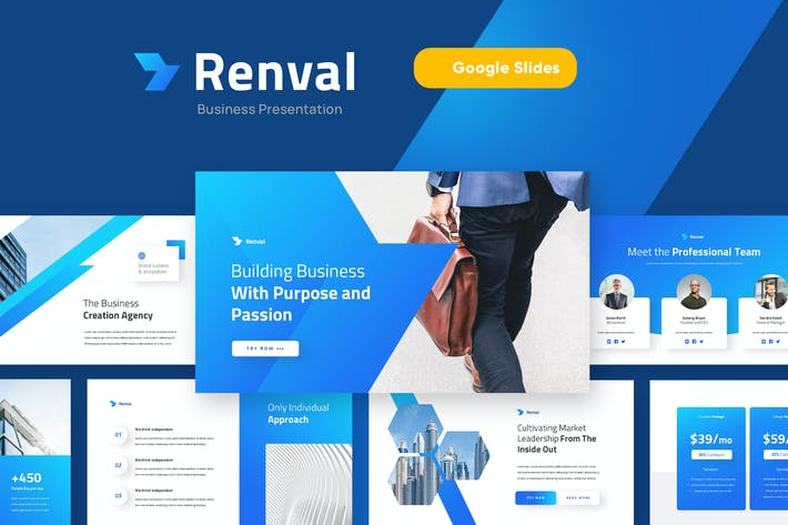 Thumbnail for RENVAL - Business Marketing Google Slides Template