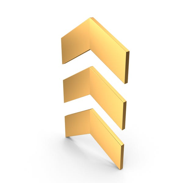 Arrow Symbol Gold
