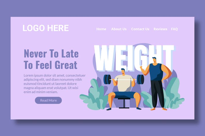 Thumbnail for Fitness Training - Landing Page