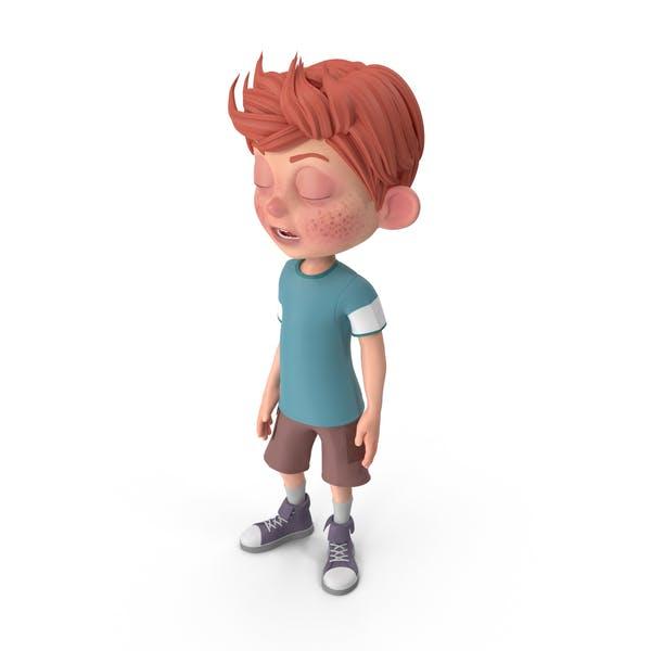 Thumbnail for Cartoon Boy Charlie Bored