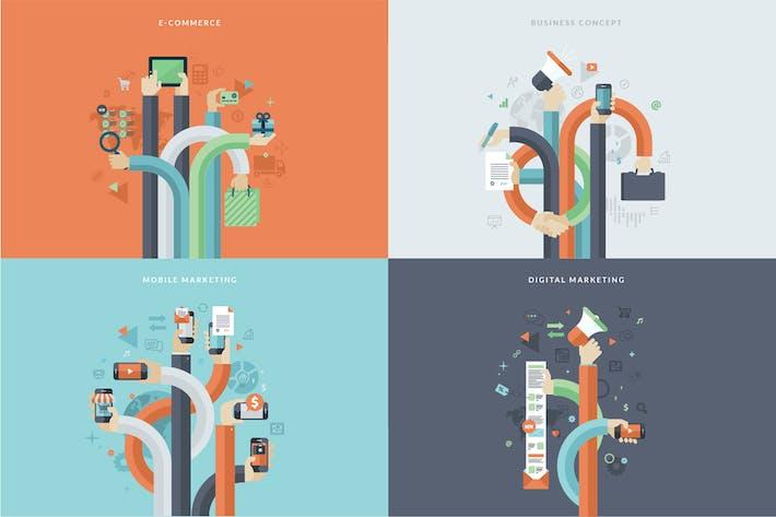 Thumbnail for Набор концепций плоского дизайна